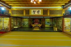 KYOTO JAPONIA, LIPIEC, - 05, 2017: Pokój zakrywający z tatami matą przy Tenryu-ji dalej w Kyoto Obrazy Royalty Free