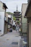 KYOTO JAPONIA, MAJ, - 01, 2014: Yasaka pagoda Zaka Stree i Sannen Obraz Royalty Free