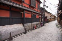 KYOTO JAPONIA, NOV, - 25: Japończyka dom w Gion okręgu Zdjęcie Stock