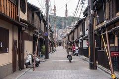 KYOTO JAPONIA, NOV, - 25: Japończyka dom w Gion okręgu na Novemb Zdjęcie Stock