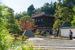 Kyoto Japonia, Nov, - 22 2016: Piękna architektura przy srebra Pa Obrazy Royalty Free