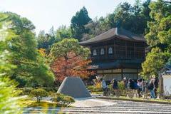 Kyoto Japonia, Nov, - 22 2016: Piękna architektura przy srebra Pa Fotografia Stock