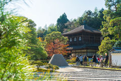 Kyoto Japonia, Nov, - 22 2016: Piękna architektura przy srebra Pa Obrazy Stock