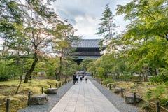 KYOTO JAPONIA, PAŹDZIERNIK, - 08, 2015: Nanzen-ji, Zuiryusan Nanzen-ji Zenrin-ji, poprzedni buddyjski Japan Kyoto świątyni zen ce Obraz Royalty Free