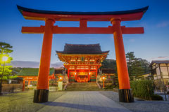 Kyoto, Japonia przy Fushimi Inari świątynią Fotografia Stock