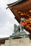 Kyoto, Japonia przy Fushimi Inari świątynią Obrazy Royalty Free