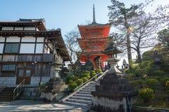 Kyoto, Japonia przy Kiyomizu-dera Obrazy Royalty Free