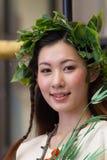 KYOTO - 24 JUILLET : La fille non identifiée de Maiko (ou la dame de Geiko) sur le défilé du hanagasa en Gion Matsuri (festival)  Photos stock