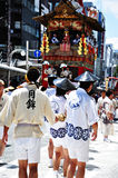 KYOTO - JULY 17: Participants of Gion Festival (Gion Matsuri) pu Stock Photo