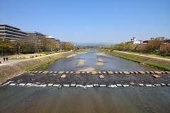 Kyoto Kamo River Stock Photo
