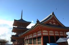 Kyoto Kiyomizu-dera Japan temple Royalty Free Stock Photos