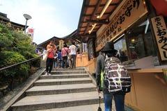 Kyoto Kiyomizudera tempel Royaltyfri Foto
