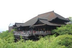 Kyoto Kiyomizudera tempel Arkivbild