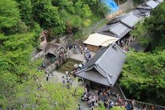 Kyoto Kiyomizudera tempel Arkivbilder