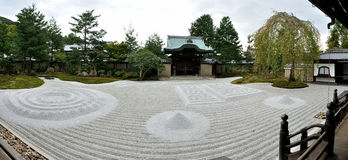 Kyoto Kodaiji temple zen garden. Kodaiji is an outstanding temple in Kyoto`s Higashiyama District. It was established in 1606 in memory of Toyotomi Hideyoshi Royalty Free Stock Photography
