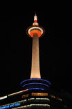 Kyoto-Kontrollturm nachts Lizenzfreie Stockfotografie