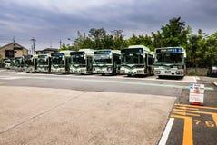 Kyoto miasta autobusy obrazy stock