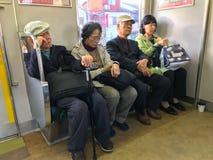 KYOTO NAGAOKAKYO-SHI, CHOME, JAPAN-NOVEMBER 11, 2018: En grupp av royaltyfria foton