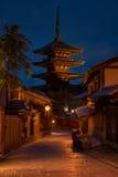 Kyoto natt Arkivfoton