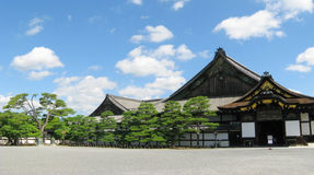 Kyoto Nijo castle buildings Royalty Free Stock Images