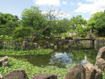 Kyoto Nijo castle gardens Royalty Free Stock Photo