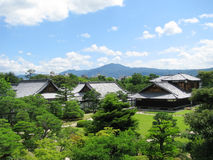 Kyoto Nijo castle gardens Stock Photography