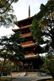 Kyoto Ninnaji temple five storied pagoda Royalty Free Stock Photo