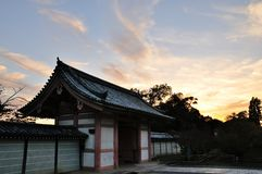 Kyoto Ninnaji temple sunset Stock Images