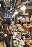 Kyoto Nishiki marknad royaltyfria foton