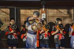 Special child traditional musical event. Kyoto, NOV 23: Special child traditional musical event on NOV 23, 2017 at Bishamondo, Kyoto, Japan Royalty Free Stock Photo