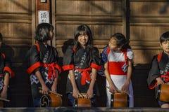 Special child traditional musical event. Kyoto, NOV 23: Special child traditional musical event on NOV 23, 2017 at Bishamondo, Kyoto, Japan Stock Photo