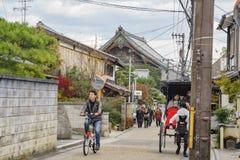 Street view with Seiryo-Ji. Kyoto, NOV 24: Street view with Seiryo-Ji of Seiryo-ji on NOV 24, 2017 at Kyoto Japan Royalty Free Stock Photography