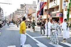 KYOTO - OCT 22: Deelnemers in Jidai Matsuri Royalty-vrije Stock Foto's