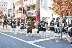 KYOTO - OCT 22: deelnemers op Jidai Matsuri Stock Foto