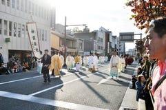 KYOTO - OCT 22: deelnemers op Jidai Matsuri Royalty-vrije Stock Foto