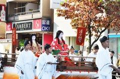 KYOTO - OCT 22: Deltagare på Jidaien Matsuri Arkivbild