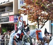 KYOTO - OCT 22: Deltagare på Jidaien Matsuri Royaltyfri Fotografi