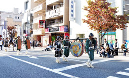 KYOTO - OCT 22: en deltagare på Jidaien Matsuri Arkivbild