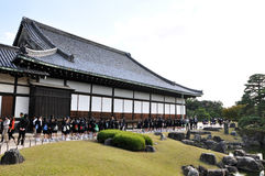 KYOTO- OCT 22: Field visit at Nijo castle Royalty Free Stock Photos