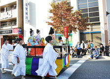 KYOTO - OCT 22: Jidaien Matsuri Royaltyfri Fotografi