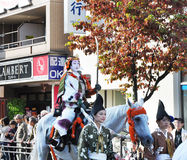 KYOTO - OCT 22: Participants at The Jidai Matsuri Royalty Free Stock Photography