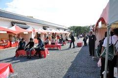 KYOTO OCT 22: Turystyczna wizyta przy Nijo kasztelem, sławny turysta przy zdjęcia stock