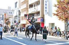 KYOTO OCT - 22: uczestnicy na Jidai Matsuri Obraz Royalty Free