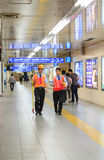 KYOTO - OCT 30, 2013: Security walk at Kyoto railway station  in Stock Photography