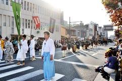 KYOTO - OUTUBRO 22: O Jidai Matsuri Imagens de Stock