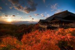Kyoto på solnedgången Arkivfoto