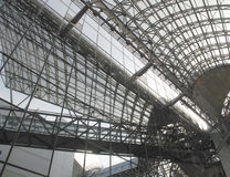 Kyoto Rail Station, Japan. The interior of Kyoto's 15-story main rail station. Opened in 1997, it was designed by Hiroshi Hara and is Japan's second largest royalty free stock photos