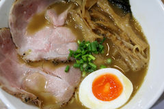 Kyoto Ramen. Japanese ramen in Kyoto, with pork, bamboo shoot, and hot spring egg in hot broth Stock Images