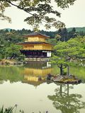 Kyoto-Reise - Kinkakuji-Tempel Lizenzfreie Stockfotos