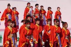 Kyoto Sakura Yosakoi 2010 - festival da dança Imagem de Stock Royalty Free
